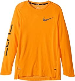 Dry Elite Long Sleeve Basketball Top (Little Kids/Big Kids)