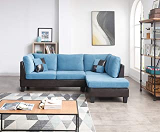 Superb Amazon Com Blue Leather Living Room Sets Living Room Beutiful Home Inspiration Truamahrainfo