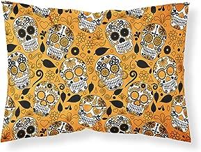 Caroline's Treasures BB5118PILLOWCASE Day of The Dead Orange Pillowcase,Multicolor,Standard