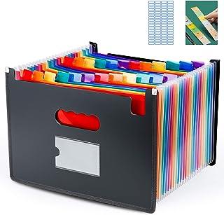 منظم ملفات الأكورديون كبير جدا، 24 جيبًا ومجلدًا قانونيًا للملف ، فارز قابل للتمدد وملفوف بحافة ملونة وقابلة للتمدد مناسب ...