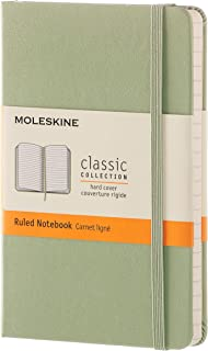 Moleskine Hard Cover Ruled Pocket Classic Notebook, Willow Green