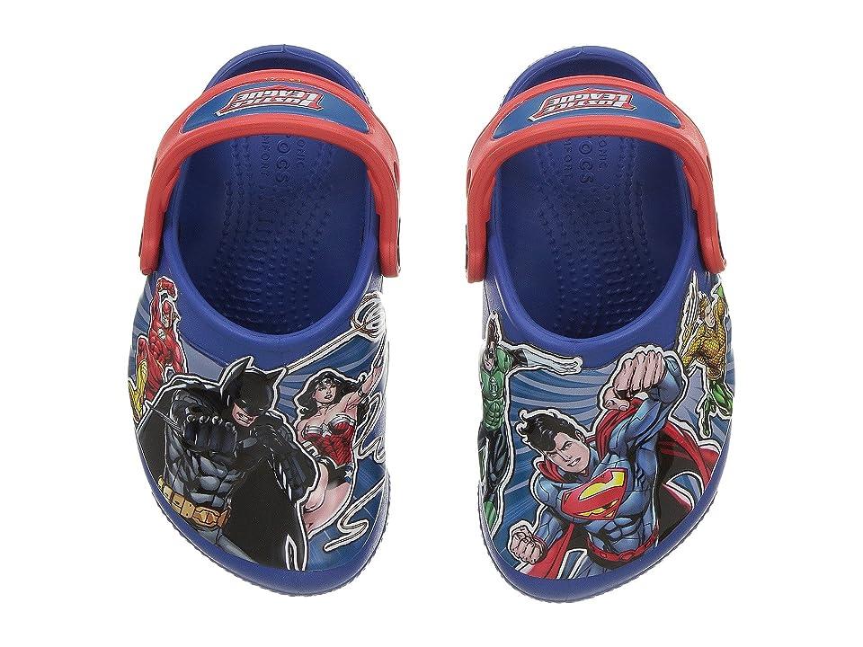 Crocs Kids FunLab Justice League Lights Clog (Toddler/Little Kid) (Blue Jean) Boys Shoes