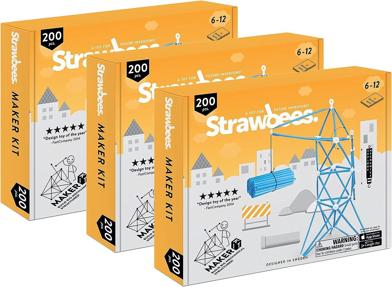 Schylling, Set of 3 Strawbees Maker Builder Kit