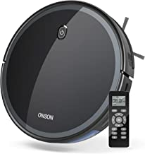 Robot Vacuum, GOOVI by ONSON 1800Pa Robotic Vacuum Cleaner (Slim) Max Suction, Quiet Multiple Cleaning Modes, Self-Charging Vacuum, for Pet Hair, Hard Floor, Medium-Pile Carpets