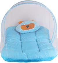My NewBorn Baby's Carry Bag Mosquito Net, Velvet Bedding with Pillow (Sky Blue, 0-3 Months)