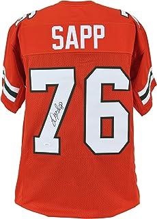 Miami Warren Sapp Authentic Signed Orange Jersey Autographed JSA Witness