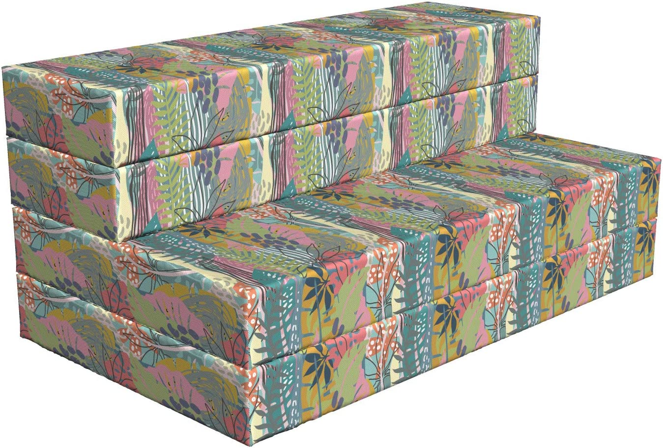 Lunarable cheap Jungle Foldable Mattress Pastel New life 7 Arrangement Plants