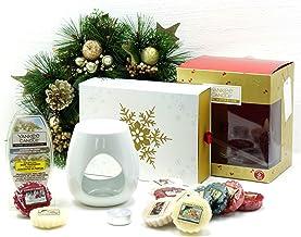 Official Yankee Candle festive Season essenze set regalo di Natale confezione include cubi di cera, cera & Unscented Tea light