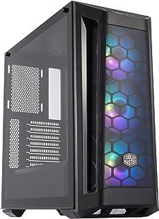 Cooler Master MasterBox MB511 RGB - Caja PC ATX con Panel Frontal Mallado, 3 x 120mm Ventiladores Preinstalados, Panel Lateral de Vidrio, Configuraciones Flujo de Aire Flexible - RGB
