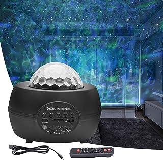 FantasyAttics LED Night Light Projector - 3 in 1 Galaxy Star Projector Skylight Ocean Wave and Water Wave Children's Night...