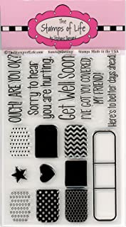 Get Well Soon Sentiment Stamps for Card-Making and Scrapbooking Supplies by The Stamps of Life - Bandage2Stamp Sympathy