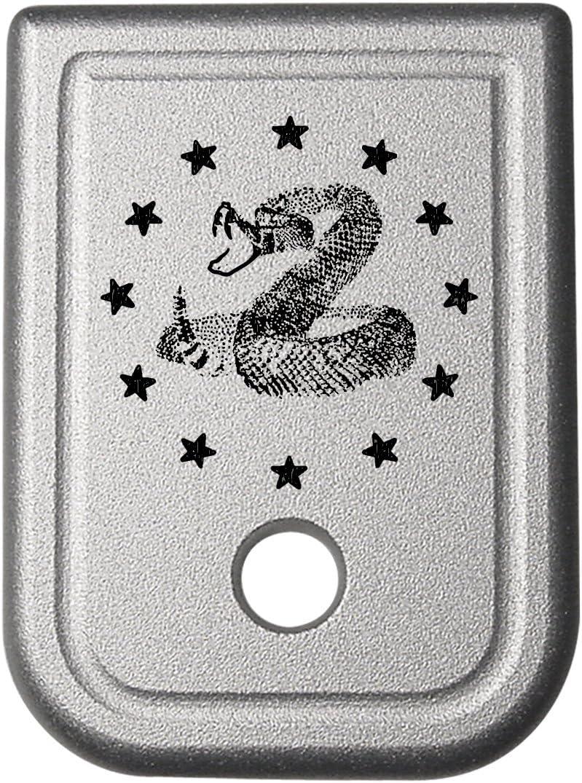 Magazine Base Plate Glock 9MM .40 Gen 1-5 Silver NDZ Choose Your Design