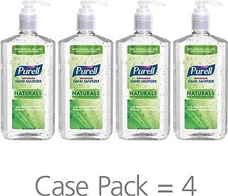 PURELL Advanced Hand Sanitizer Naturals with Plant Based Alcohol, Citrus Scent, 28 fl oz Pump Bottle (Pack of 4) - 3182-04-CMR
