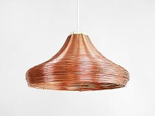 Lampada a Sospensione in Rame Intrecciato AMPIA- Copper Braided Pendat Lamp Wide - Olandese - Design - Rame - a mano - int...