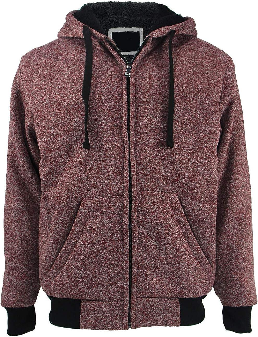 Men's Hoodies Full Max 72% OFF Zip sold out Sherpa Swea Heavyweight Warm Fleece Lined
