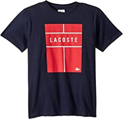 Short Sleeve Lacoste Wording Tee Shirt (Little Kids/Big Kids)
