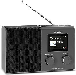 TechniSat TECHNIRADIO 4 IR - Compacte Internetradio-Designradio (DAB+, FM, Wifi, Dimbaar Kleurendisplay, Wekker, Equalize...