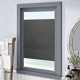 Keego Custom 100% Blackout Cellular Shades, Top Down Bottom up Window Blinds, Charcoal, 35