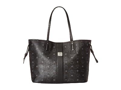 MCM Reversible Liz Medium Shopper in Visetos (Black 2) Handbags