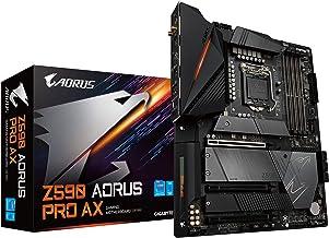 GIGABYTE Z590 AORUS PRO AX (LGA 1200/Intel Z590/ATX/3x M.2/PCIe 4.0/USB 3.2 Gen2X2 Type-C/Intel WiFi 6/2.5GbE LAN/Gaming M...