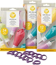 Wilton Disposable Decorating Bags Set, 12-Inch and 16-Inch Disposable Decorating Bags and Icing Bag Ties