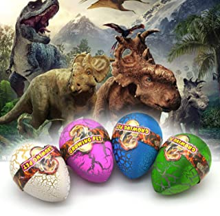 LIGHTER HOUSE™ Big Size Cute Magic Hatching Growing Dinosaur Eggs for Kids Fun/Gifts,Rubber(Pack of 03 Pcs.)Multi Color