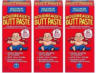 Boudreaux's Butt Paste Diaper Rash Ointment   Maximum Strength   2 Ounce   Pack of 3