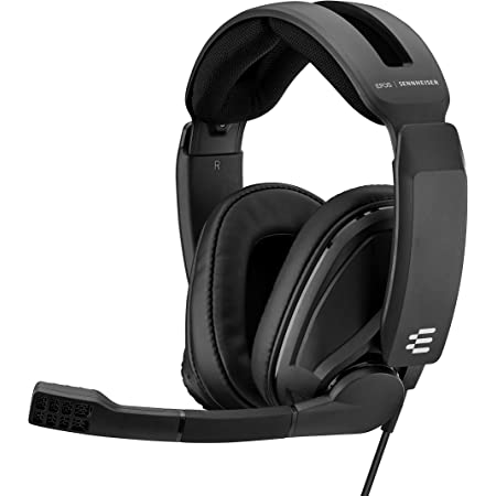 EPOS I Sennheiser GSP 302 Gaming Headset with Noise-Cancelling Mic, Flip-to-Mute, Comfortable Memory Foam Ear Pads, Headphones for PC, Mac, Xbox One, PS4, Nintendo Switch, and Smartphone compatible.