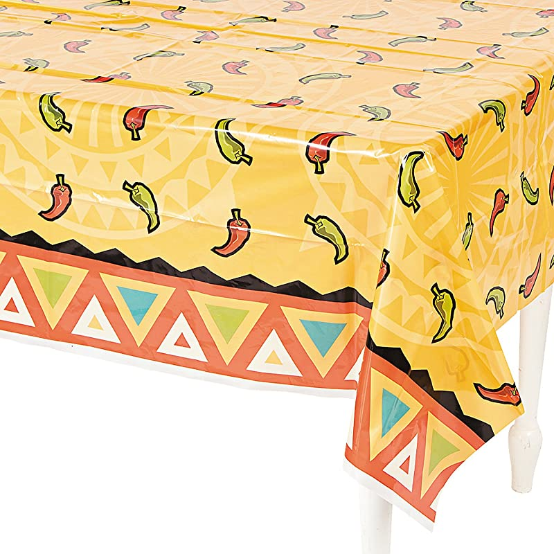 Fun Express Southwest Chilies Tablecover For Cinco De Mayo Party Supplies Table Covers Print Table Covers Cinco De Mayo 1 Piece