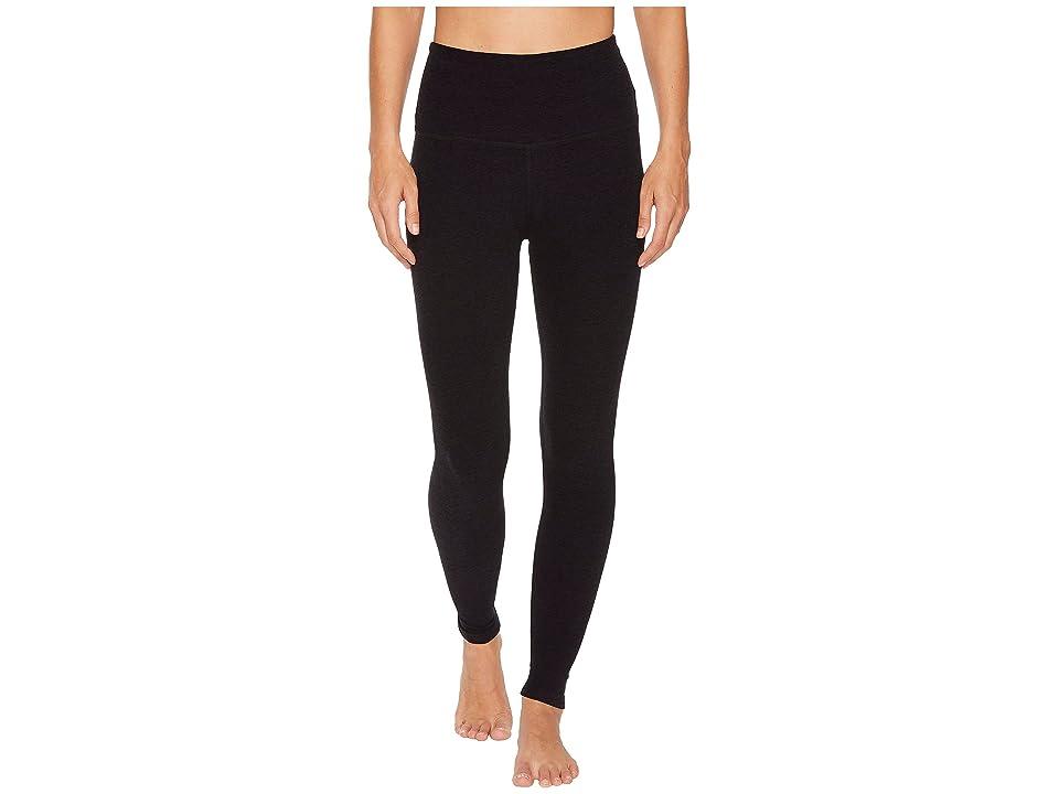 Beyond Yoga Spacedye High-Waist Midi Leggings (Darkest Night) Women