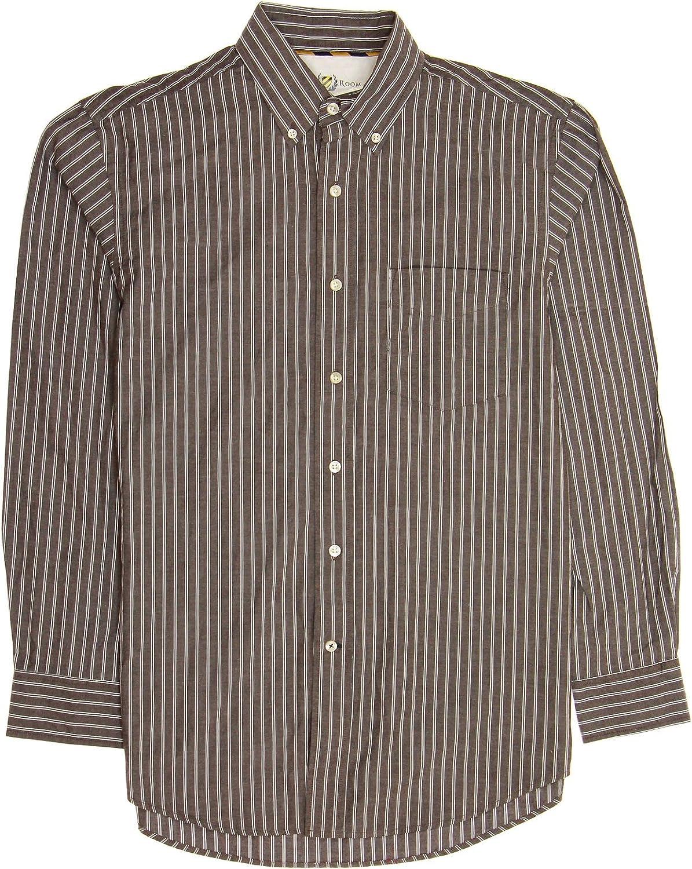 Club Room Men's Red Striped Button Down Shirt