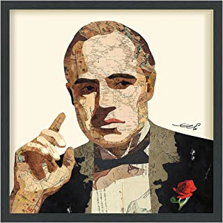 Empire Art Direct Godfather Dimensional Collage Handmade by Alex Zeng Framed Graphic Famous Person Wall Art, 25