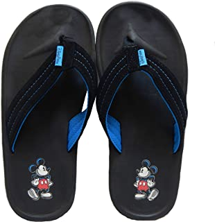 Men's Disney Parks Mickey Mouse Black Flip Flop Thong Sandals