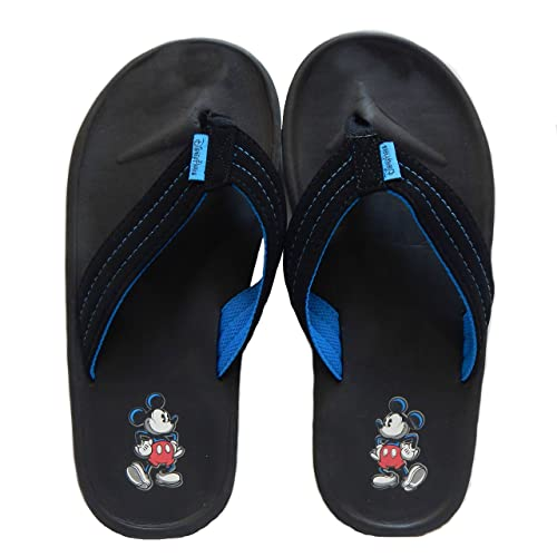 c7126fd075f Men s Disney Parks Mickey Mouse Black Flip Flop Thong Sandals