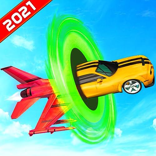 Pistas futuristas mega imposibles Simulador de acrobacias en avión de carreras de coches: Ultimate Crazy Car Stunt Racing Games 2021