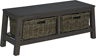 """East at Main Mercury Bench with Storage, Grey, (16""""x47""""x18"""")"""