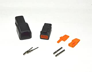 Deutsch DTM Black 2-pin Connector Kit with 20 Gauge Solid Contacts