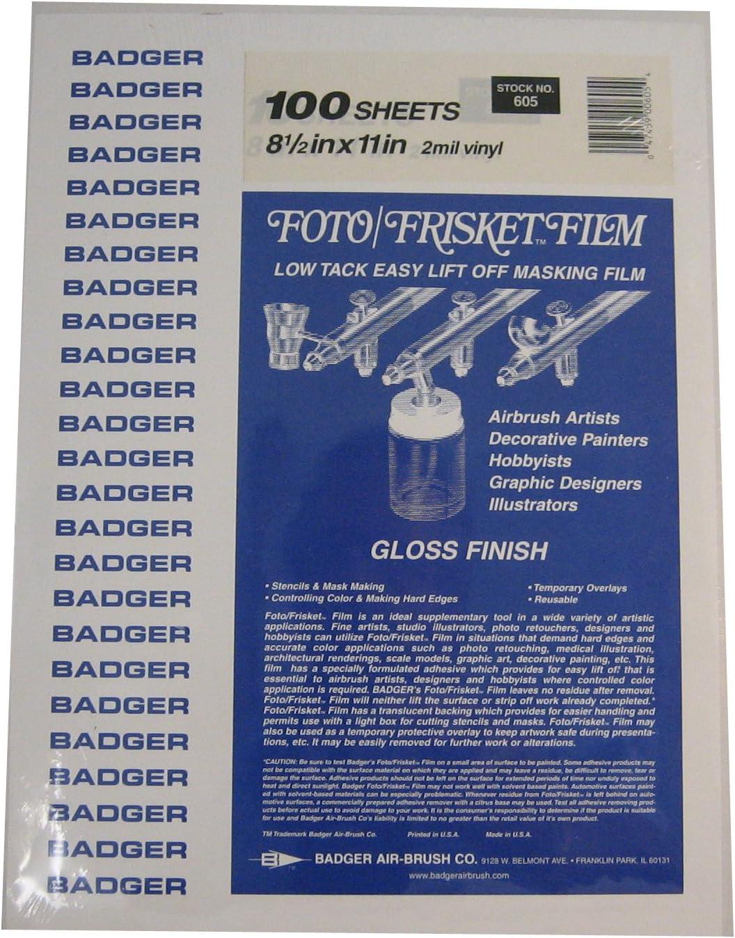 Badger Air-Brush Co. 605 Film Foto Gloss Bargain Max 68% OFF Frisket
