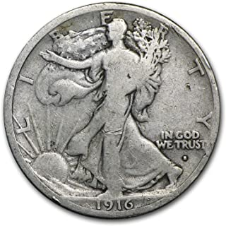 1916 S Walking Liberty Half Dollar Good Half Dollar Good