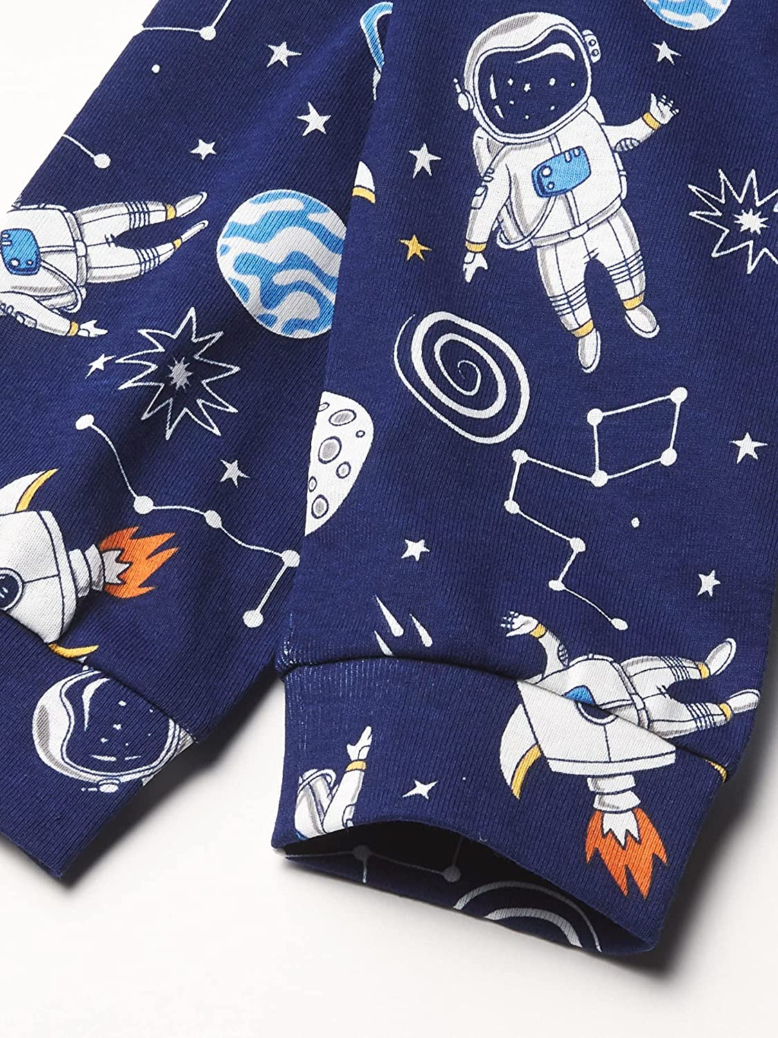 The Children's Place Baby And Toddler Boys Glow Space Snug Fit Cotton Pajamas