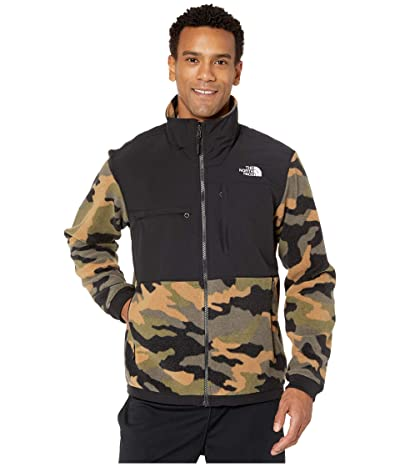 The North Face Denali 2 Jacket (Burnt Olive Green Woods Camo Print) Men