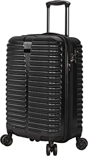 Ciao Carry On 100% PC TSA Lock Lightweight Expandable Luggage With Spinner Wheels (20in, Black With TSA Lock)