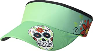 Headsweats 7703-401STSS Supervisor Sweat Band, Teal Skulls, One Size