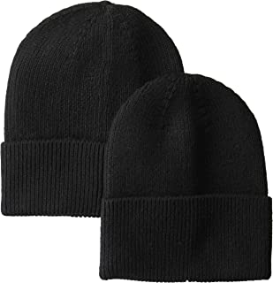 Amazon Essentials Men's  2-Pack Knit Beanie Hat