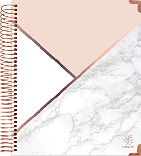 bloom daily planners 2019-2020 Hardcover Academic Year Vision Planner (August 2019 - July 2020) - Monthly and Weekly Column View Calendar Organizer - 7.5
