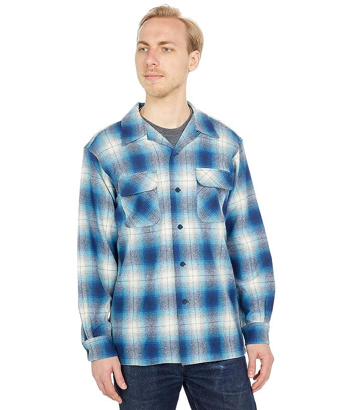 1940s Men's Shirts, Sweaters, Vests Pendleton Board Shirt Classic Fit $119.99 AT vintagedancer.com