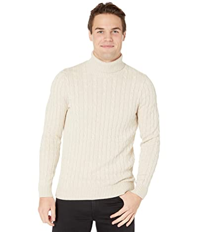 Selected Homme Ryan Structure Roll Neck Sweater (Bone White) Men