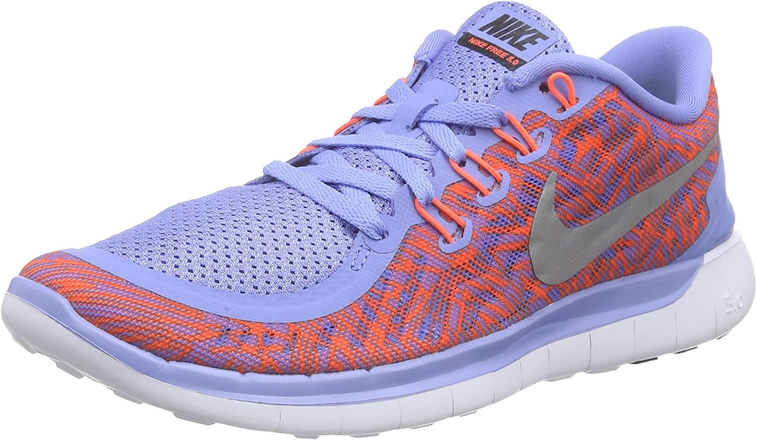 Nike Free 5.0 Print Womens Running shoes bluee New In Box