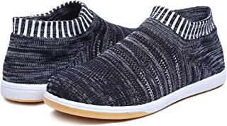 Unistar Knitted Upper Rubber Sole Men's Outdoor Casual Sneakers