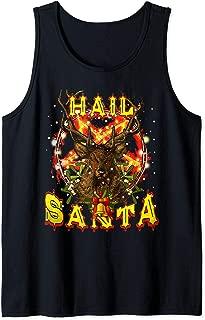 Hail-Santa Satan Reindeer Christmas Tank Top